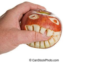 morder, manzana