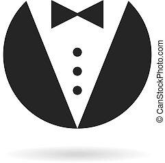 mordomo, cavalheiro, ícone