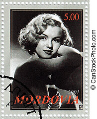 mordovia, estampilla, :, 1960s, -, marylyn, actriz, 2001,...