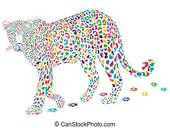 more colorful leopard