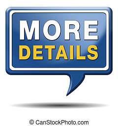 more details icon - more details and find info icon, button...
