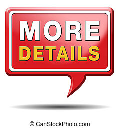 more details icon - more details and find info icon, button ...