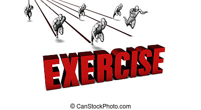 More Exercise with a Business Team Racing Concept