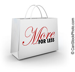 More for Less Shopping Bag Store Sale Discount Deal Savings...