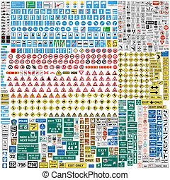 More than Six hundred european traffic signs