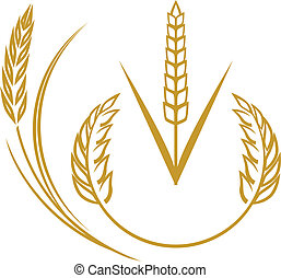 Abstract wheat icon and symbol clip art