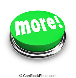 More Word Round Green Button Extra Bonus Value - The word...