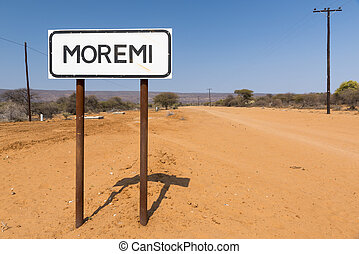 Moremi Sign Post