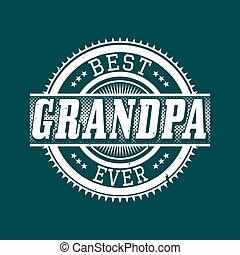 morfar, någonsin, typografi, bäst