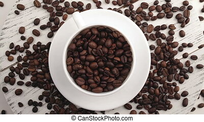 morgen, coffee., koffie, magic., geroosterd, koffie bonen,...