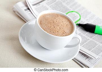 Zeitung Bohnenkaffee Guten Morgen Bohnenkaffee Guten