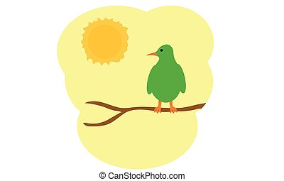 morgon, fågel
