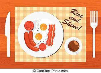 morgon, frukost