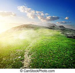 morgon, in, mountains