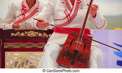 Morin Khuur, Mongolian bowed stringed instrument. - Music...