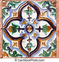 morisco, azulejos de cerámica