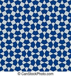 morisco, clásico, seamless, ornamento, azul