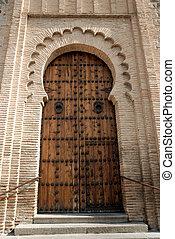 morisco, puerta, estilo