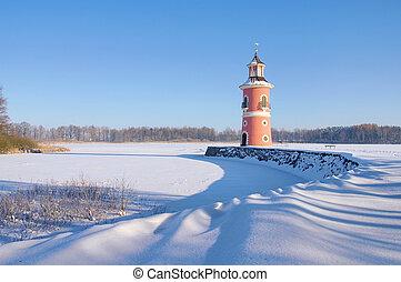 moritzburg, faro, en, invierno, 05