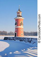 Moritzburg lighthouse in winter 07