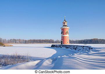 Moritzburg lighthouse in winter