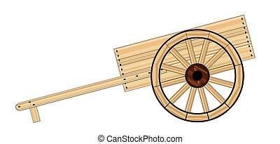 Mormon Hand Cart - A typical Mormon wooden empty hand cart