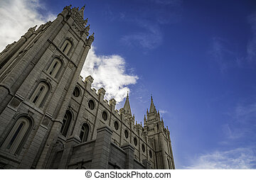 Mormon Temple During Spring