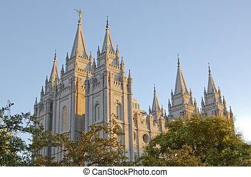 Mormon Temple in Salt Lake City Utah