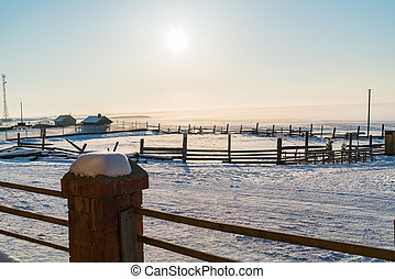 Morning at Goloustnoye Village in Lake Baikal