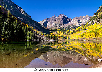 Morning at Maroon Bells Aspen CO - Maroon Bells mountain ...