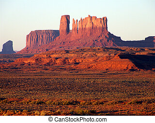 Morning at Monument - Monument Valley USA during an early...