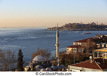 Morning at the Golden Horn Istanbul