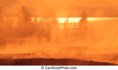 Morning at West Thumb, Yellowstone 2 - West Thumb Geyser...