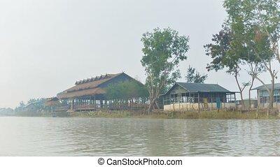 Morning boat trip to Inle Lake. Myanmar