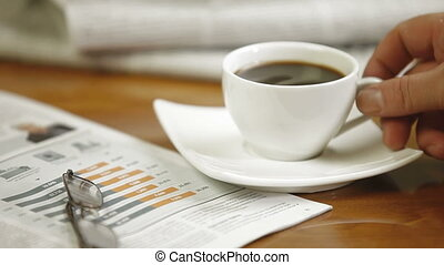 Morning Business News With Coffee