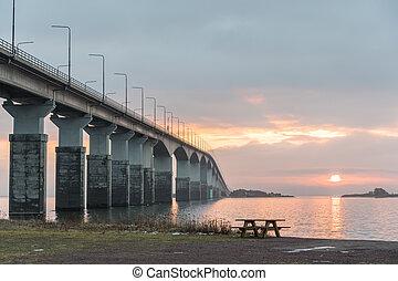 Morning by the bridge