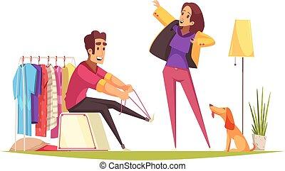 Morning Cartoon Illustration