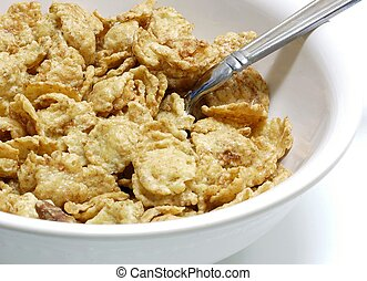 Bowl of tasty cereal at breakfast time