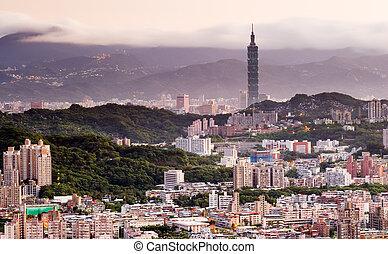 morning city landscape