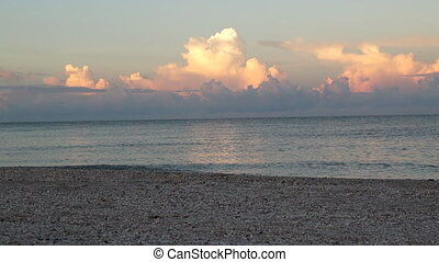 Morning Clouds Over Gulf Waves - Early morning looking out...