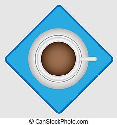 Morning coffee top view