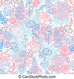 Morning colors floral seamless pattern background - Vector...