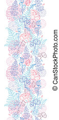 Morning colors floral vertical seamless pattern background