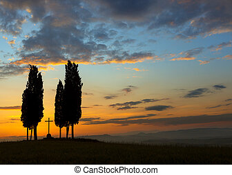Morning colors in Tuscany