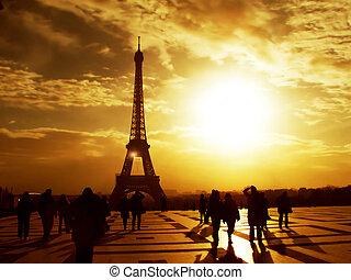 Morning Eiffel Tower - Paris