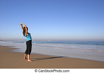 Morning exercises - Woman doing some morning exercises