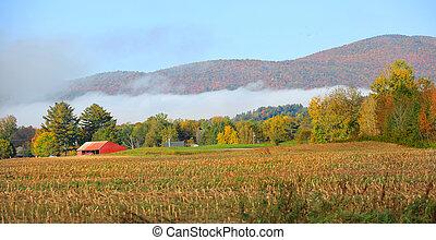 Morning fog in Vermont