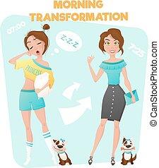 Morning Girl Transformation Poster