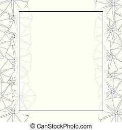 Morning Glory Flower Outline Banner Card Border. Vector...