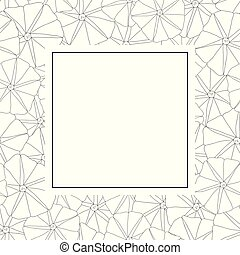 Morning Glory Flower Outline Banner Card. Vector...
